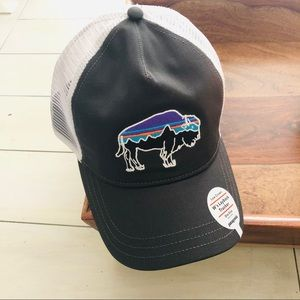 Patagonia Fitz Roy Bison Layback Trucker Hat Snap